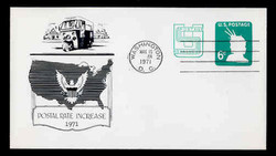 U.S. Scott #U561 6c (U551) + 2c Statue of Liberty Envelope First Day Cover.  Day Lowry Aristocrat cachet.