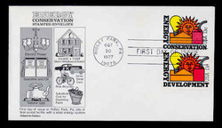 U.S. Scott #U584 13c Energy Conservation Envelope First Day Cover, COMBO with Sc. #1724.  Aristocrat cachet.