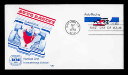 U.S. Scott #U587 13c Auto Racing Envelope First Day Cover.  MARG cachet.