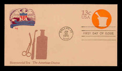 U.S. Scott #U574 13c Bicentennial - American Doctor Envelope First Day Cover.  MARG cachet.