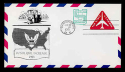 U.S. Scott #UC45 10c (UC40) + 1c Jet Air Mail Envelope First Day Cover.  Aristocrat cachet.