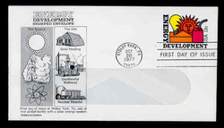 U.S. Scott #U585 13c Energy Development WINDOW Envelope First Day Cover.  Aristrcrat cachet.