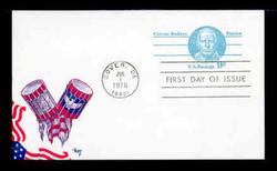 U.S. Scott #UX70 9c Caesar Rodney Postal Card First Day Cover.  MARG cachet.