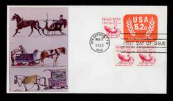 U.S. Scott #U604 5.2c Non-Profit Org. Envelope First Day Cover.  Sarzin Quadrocolorplus cachet.