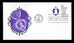 U.S. Scott #U603 20c Purple Heart Envelope First Day Cover.  New Direxions cachet.