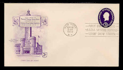U.S. Scott #U534 3c George Washington Envelope First Day Cover.  Artmaster cachet.