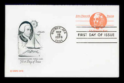 U.S. Scott #UY29 (10c) Paul Revere Reply Card First Day Cover.  Artmaster cachet.