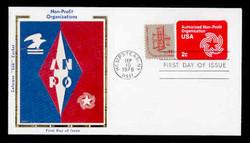 U.S. Scott #U577 2c Non-Profit Organization Envelope First Day Cover.  Colorano cachet.