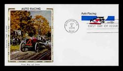 U.S. Scott #U587 13c Auto Racing Envelope First Day Cover.  Colorrano cachet.