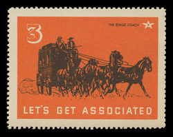 Associated Oil Company Poster Stamps of 1938-9 - #  3, The Stage Coach