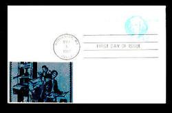 U.S. Scott #UX 89 12c Isaiah Thomas Postal Card First Day Cover.  Sarzin Metallic (1) cachet.