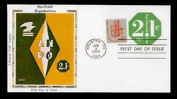 U.S. Scott #U578 2.1c Non-Profit Organization Envelope First Day Cover.  Colorano cachet.