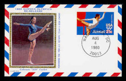 U.S. Scott #UXC18 21c 1980 Summer Olympics RE-ISSUE Postal Card First Day Cover. Colorano cachet.