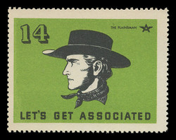 Associated Oil Company Poster Stamps of 1938-9 - # 14, The Plainsman