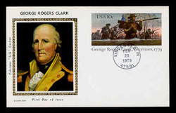 U.S. Scott #UX 78 10c George Rogers Clark Postal Card First Day Cover.  Colorano cachet.