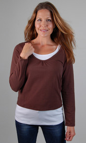 Scoop Crop Duo  Nursing Top