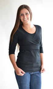 Soho Chic Maternity Nursing Tee 3/4 Sleeved