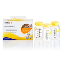 *Designed to maintain breastmilk's complex life enhancing beneficial properties *Compatible with all Medela Breastpumps and the Calma feeding system - *Pump, store, and feed from the same bottle to maximize available expressed breastmilk for baby. Reduces preparation time. *BPA-Free, Food-Grade Polypropylene bottle and lid - Non-reactive material ensures breastmilk is protected from deterioration during freezing, refrigeration, and warming. *Accurate volumetric graduation lines - Easily read, track and document volume of breastmilk consumed at each feeding *What's in the box: 3 - 150ml breastmilk bottle, 3 solid lid, instructions