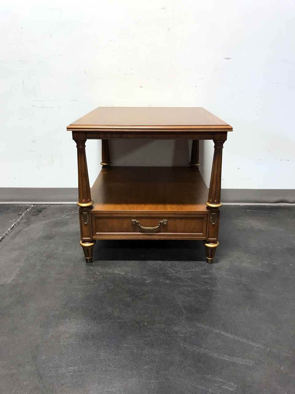 Superb HENREDON Mid Century Era Neoclassical Style Side End Table