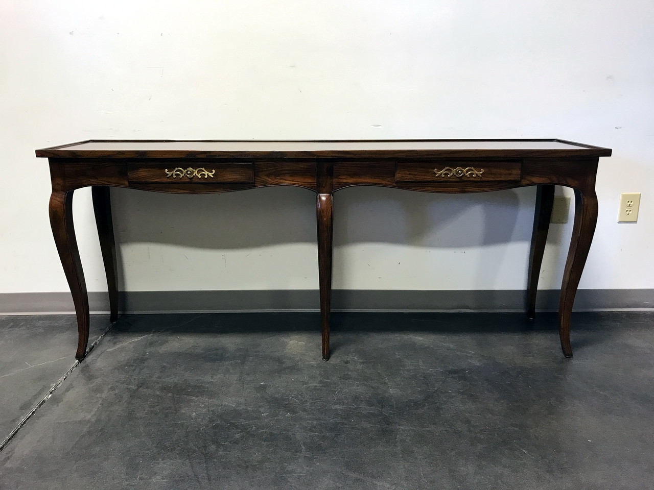 Sold out henredon inlaid oak french country style console sofa sold out henredon inlaid oak french country style console sofa table geotapseo Gallery