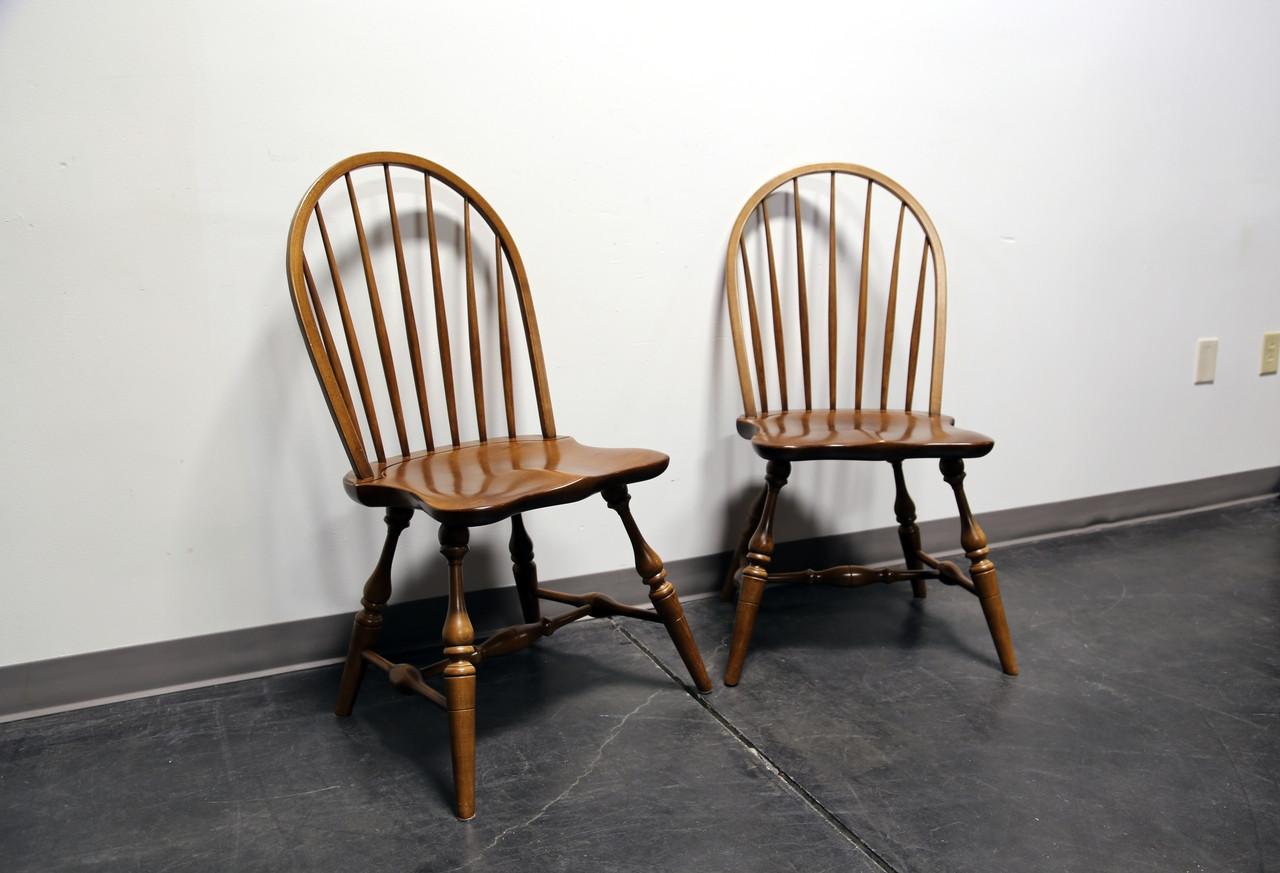 Elegant Frederick Duckloe U0026 Bros Portland Pennsylvania Windsor Side Dining Chairs    Pair