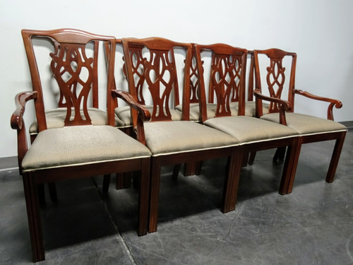 sold out drexel chippendale straightleg mahogany dining chairs set of 8