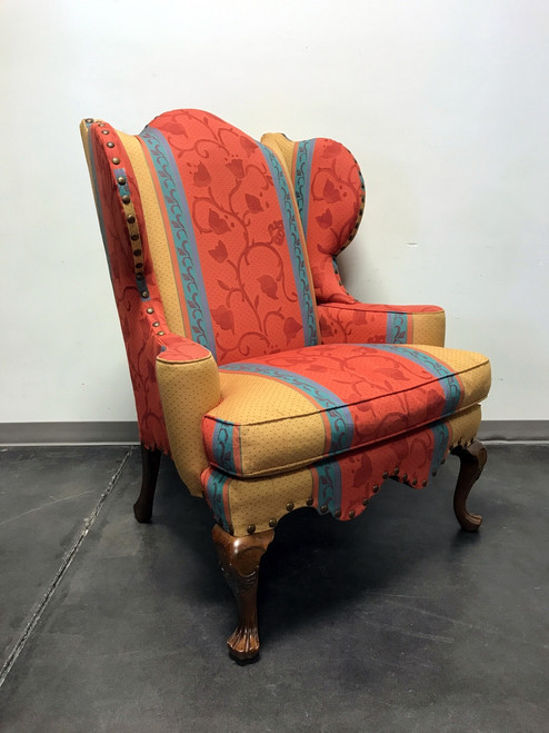 century furniture co oversized wing back chair w nailhead trim