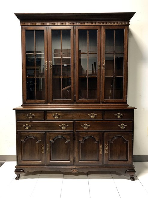 Marvelous SOLD OUT   ETHAN ALLEN Cherry China Cabinet Hutch