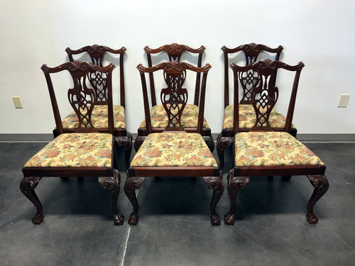 HICKORY CHAIR Mahogany Chippendale Ball Claw Dining Side Chairs