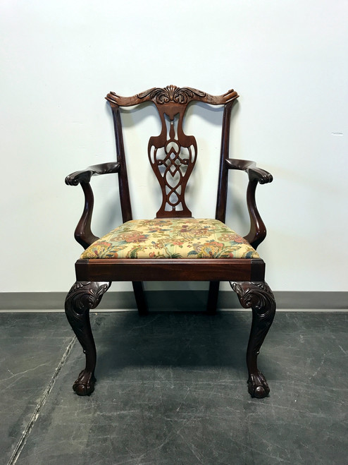 sold out hickory chair mahogany chippendale ball claw accent armchair