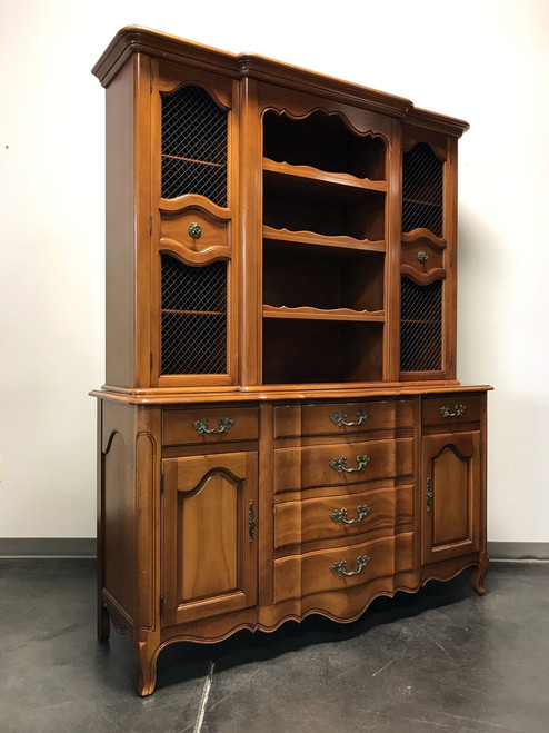 ... SOLD OUT   French Country Style Cherry China Cabinet Hutch By Fancher  ...