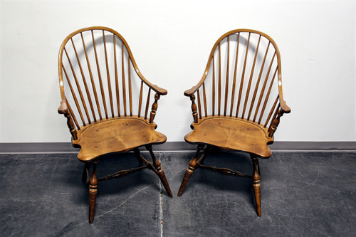 ... Frederick Duckloe U0026 Bros Colonial Reproductions Cooper Windsor Dining  Arm Chairs ...