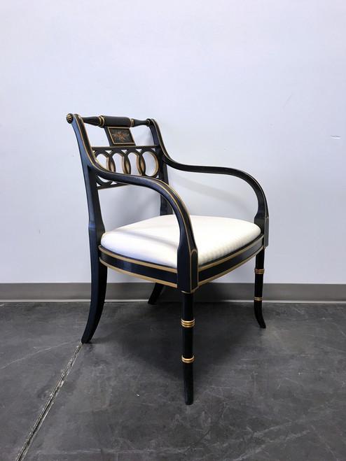 hickory chair charleston regency black u0026 gold accent arm chair