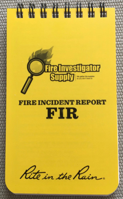 Rite In The Rain Fire Investigation Field Notes  Fire