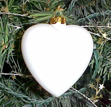 Heart Porcelain Ornament