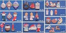 Ceramic molds, Alberta Christmas Ornaments 10 Mini