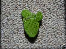 Ceramic mold, Jay-Kay  2 Prickly Pear Cactus ornament