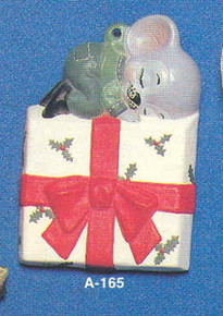 A-165 Mouse on Christmas Package