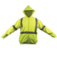 SP OK-5056017 3X Zip Hoodie Sweat Coat, Class III