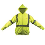 SP OK-5056017 2X Zip Hoodie Sweat Coat, Class III