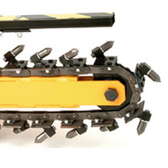 """GH15004A21 21 Station 4"""" Wide, Welded Rock/Alligator Chain (18"""" Boom)"""