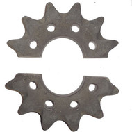"DW142-025 12 Tooth Split Head Shaft Drive Sprocket .625"" Holes"