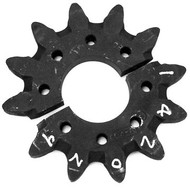 "DW142-029 12 Tooth Split Head Shaft Drive Sprocket .500"" Holes"