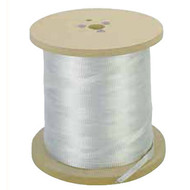 """CX 08099703 Pulling Tape, a flat woven replacement to 1/4"""" polypropylene rope, provides lower coefficient of friction, reduces the chances of burn through and has an elongation of less than 10% compared to polypropylene rope."""