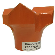 """AT T3007MO 3.00"""" Carbide Rock Bit H-Thread Rok-Bit with 9/16 Inch Carbide Insert. Side View."""