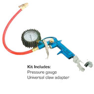 The Condux 08780705 Micro Duct Pressure Gauge Kit can be used with the Air Valve Plugs for pressurizing Micro Duct.  This will prevent kinking and crushing during installation.