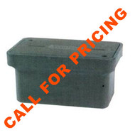 MB 173022TXDOTTPD 17x30x22 TX DOT Type D, OPEN BOTTOM POLYMER CONCRETE BOX, PC COVER Logo: Danger High Voltage Traffic Management