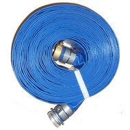 "HA BD2050-T Blue or Gray 2.00"" x 50' PVC  Discharge Hose M x F Suction (screw) Couplings"