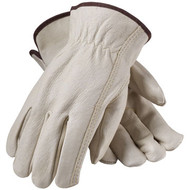 Industry Grade Top Grain Pigskin Leather Driver's Gloves are ideal for construction, machine operation, utility work and many other general applications.