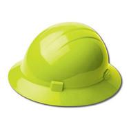 ERB-19220 Hi-Viz Lime Ratchet Full Brim Hard Hat